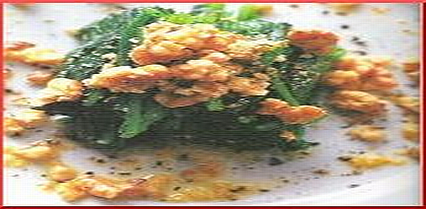 Spinach with Sesame Seed Oil and Walnuts