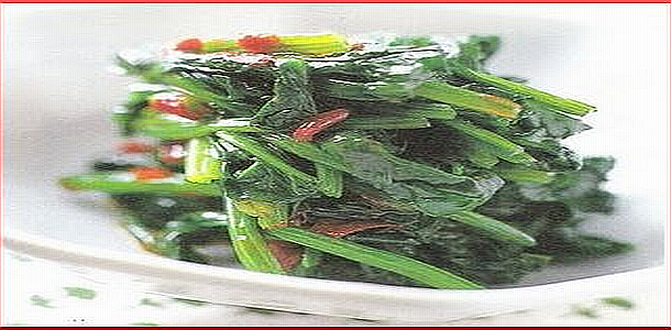 Spinch with Oyster Sauce, Chinese Soy Beans