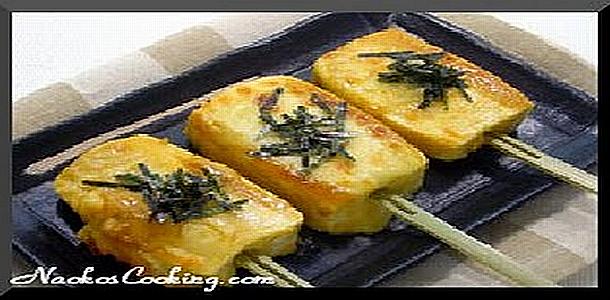 Japanese Recipe called Uni Cheese Yaki Tofu