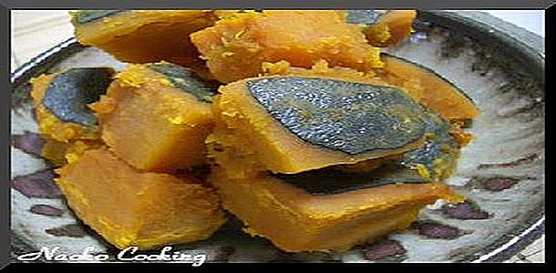 Japanese Recipes called Kabocha Nimon カボチャ煮物