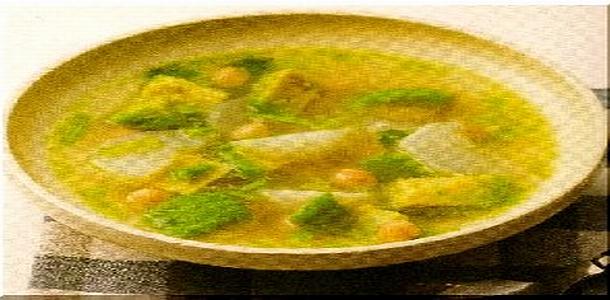 Avocado and Turnip soup