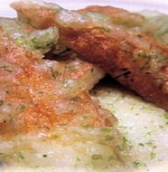 Fried Chikuwa with Green tea leaves