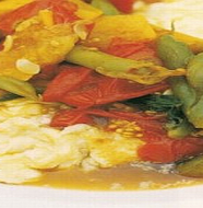 Simmered Vegetables with Omelet