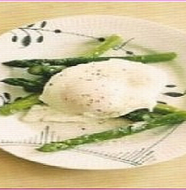 Butter Asparagus with Soft fried Egg