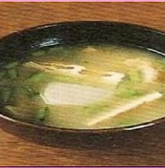 Miso soup with Turnip and Deep-fried Tofu