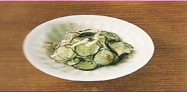 Pickled Cucumber and Ginger きゅうりとしょうがの浅漬け