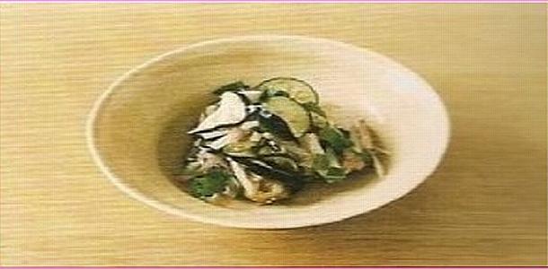 Pickled Eggplant and Myo-ga なすとみょうがの浅漬け