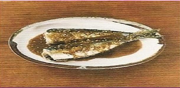 Simmered Sardine with Sesame Vinegar 鰯のごま煮