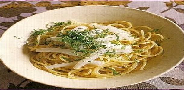 Yuzu pepper Spaghetti Japanese Style 柚子こしょうパスタ