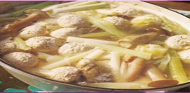Chicken balls Hot Pot 鶏団子鍋