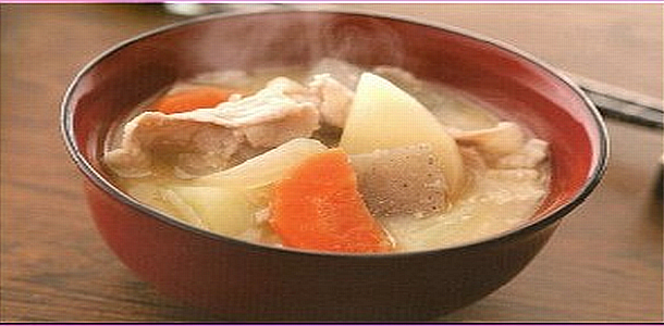 Miso Soup with Pork and Vegetables 豚汁