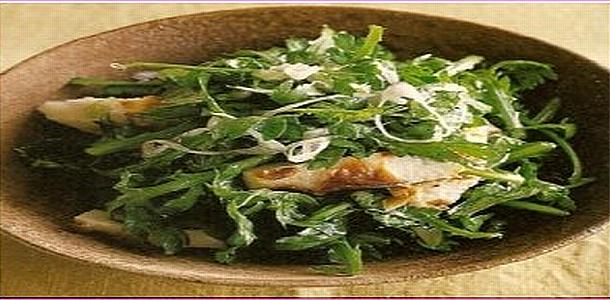 Shungiku and Chikuwa Salad 春菊とちくわのサラダ