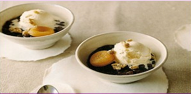 Sweet Red Beans Soup with Ice Cream