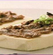 Tofu with walnuts miso 豆腐のくるみ味噌田楽