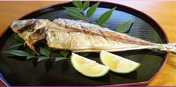 Salted-Grilled Horse Mackerel 鯵の塩焼き
