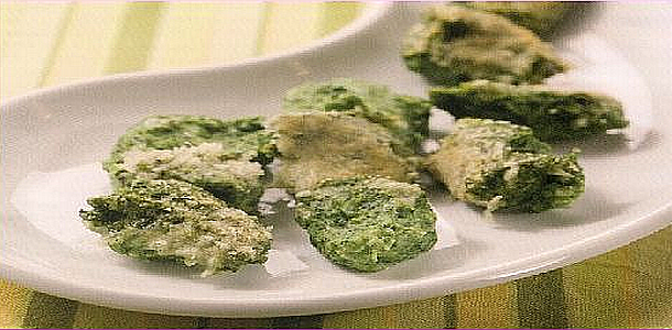 Spinach Gnocchi with Parmesan Cheese