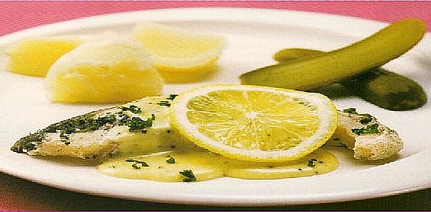 Steamed fish with Mustard Sauce 煮魚のマスタードソース