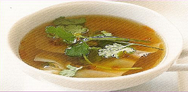 Clear Soup with Wonton ワンタンスープ