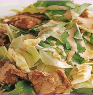 Cabbage and Fried Chicken Salad