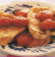 Pain Perdu with Strawberry Compote パンペルデュとイチゴのコンポート