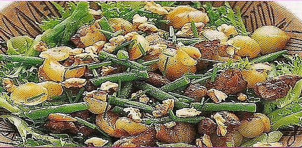 Chicken Liver saute and Onion glace Salad 鶏レバーとオニオングラッセサラダ