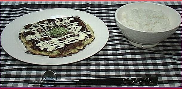 Okonomiyaki with Tofu 豆腐入りお好み焼き