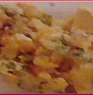 Deep Fried Scallop and Rape ホタテと菜の花のかき揚げ