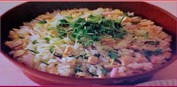 Garnished Sushi with Tuna ツナちらし寿し