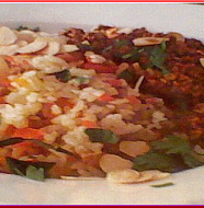 Vegetable Pilaf with Spicy Meat Sauce 野菜ピラフスパイシーミートソース添え.png