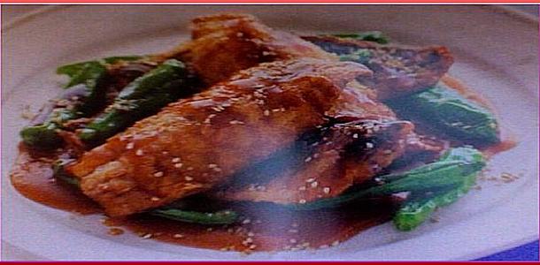 Deep-Fried Horse Mackerel with Sesame Vinaigrette Sauce 鯵のからあげごま酢あん