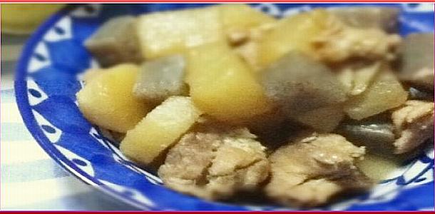 Day-4-Fried-Simmer-Chicken-and-White-Radish鶏と大根の炒め煮