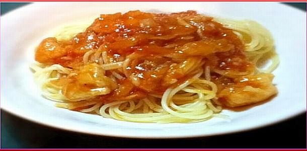 Day 9 Chicken Tomato Sauce Pasta 鶏肉のトマトソースパスタ