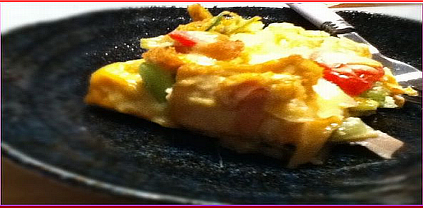 Spanish Style Omelette with Deep Fried Tofu