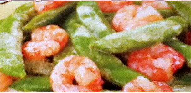 Fried Prawn and Snap peas with Mayonnaise Sauce