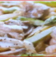 Chicken and Burdock with Cream Pasta