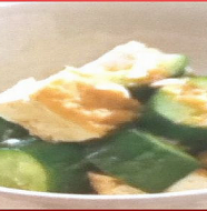 Cucumber and Deep-Fried Tofu Salad