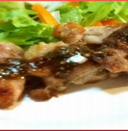 Diet Recipe#1 Chicken with Basil Sauce 鶏肉のバジルソース