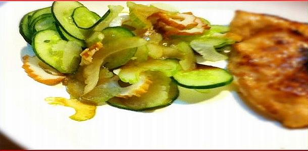 Diet Recipe#5 CHIKUWA and Celery Salad ちくわとセロリのサラダ