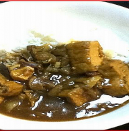 Japanese Style Curry with Deep-Fried Thick Tofu