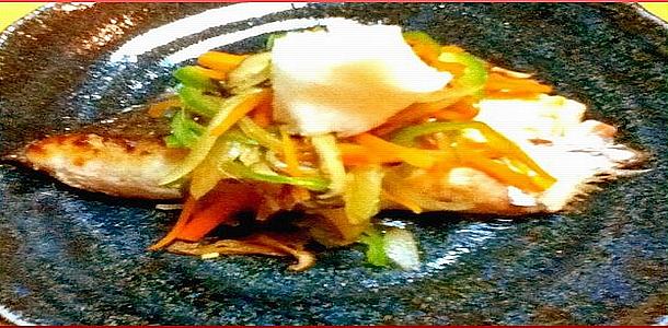 Diet Recipe#9 Mackerel with Vegetable  Sauce