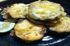 Eggplant Fritter with Ground Meat