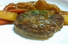 Simmered Hamburg Steak with Miso