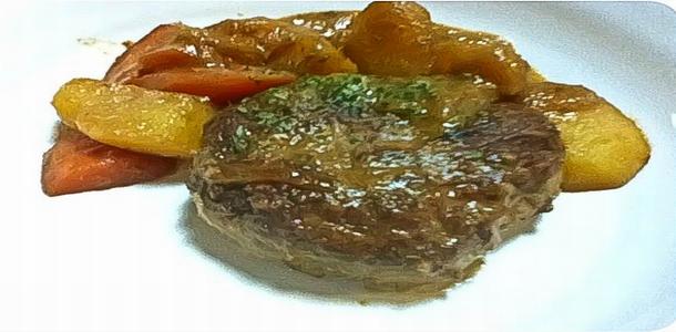 Simmered Hamburg Steak with Miso