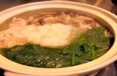 Chicken, Shimeji Mushroom, and Spinach Nabe Main